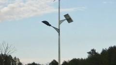 Trwa modernizacja lamp hybrydowych w gminie Dzierzgoń.