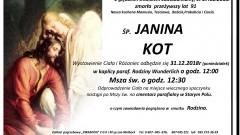 Zmarła Janina Kot. Żyła 91 lat.