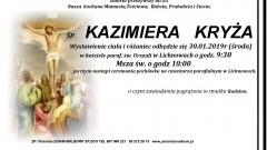 Zmarła Kazimiera Kryża. Żyła 83 lata.