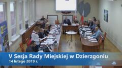 V sesja Rady Miejskiej w Dzierzgoniu