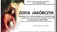 Zmarła Zofia Jakóbczyk. Żyła 89 lat.