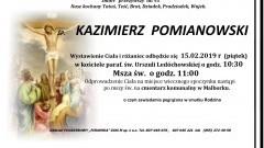 Zmarł Kazimierz Pomianowski. Żył 95 lat