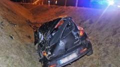 Swarożyn: Auto wpadło do rowu. 20-letni kierowca w szpitalu