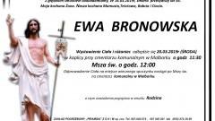 Zmarła Ewa Bronowska. Żyła 56 lat.