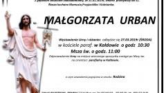 Zmarła Małgorzata Urban. Żyła 51 lat.