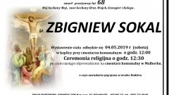 Zmarł Zbigniew Sokal. Żył 68 lat