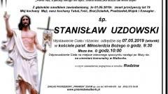 Zmarł Stanisław Uzdowski. Żył 79 lat.