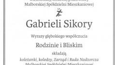 Przyjaciele, Zarząd i Rada Nadzorcza Malborskiej Spółdzielni Mieszkaniowej składają kondolencje