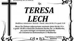 Zmarła Teresa Lech. Żyła 90 lat.