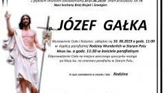 Zmarł Józef Gałka. Żył 79 lat.