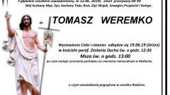Zmarł Tomasz Weremko. Żył 49 lat.
