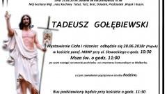 Zmarł Tadeusz Gołębiewski. Żył 76 lat.