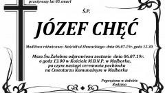 Zmarł Józef Chęć. Żył 85 lat.