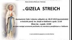 Zmarła Gizela Streich. Żyła 84 lata