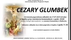 Zmarł Cezary Glumbek. Żył 58 lat.