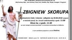 Zmarł Zbigniew Skorupa. Żył 67 lat.