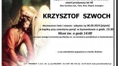 Zmarł Krzysztof Szwoch. Żył 49 lat.