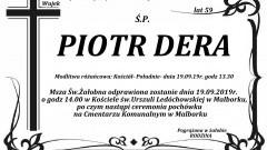 Zmarł Piotr Dera. Żył 59 lat.
