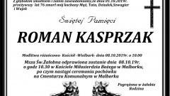 Zmarł Roman Kasprzak. Żył 76 lat