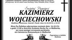 Zmarł Kazimierz Wojciechowski. Żył 66 lat.