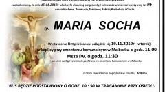 Zmarła Maria Socha. Żyła 96 lat.
