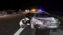 Na autostradzie A1 zderzyły się trzy samochody.