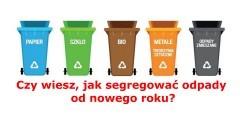 Czy wiesz, jak segregować odpady od nowego roku?