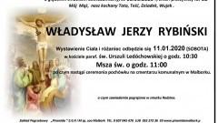 Zmarł Władysław Jerzy Rybiński. Żył 65 lat.