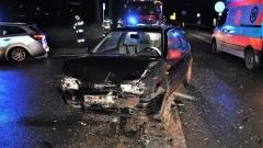Kilka osób trafiło do szpitala po zderzeniu dwóch aut na krajowej 91.