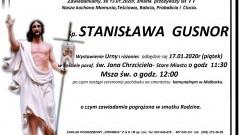 Zmarła Stanisława Gusnor. Żyła 77 lat.