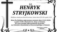Zmarł Henryk Stryjkowski. Żył 91 lat.