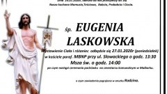 Zmarła Eugenia Laskowska. Żyła 92 lata.