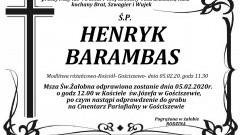 Zmarł Henryk Barambas. Żył 78 lat.
