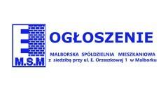 Malborska Spółdzielnia Mieszkaniowa ogłasza przetargi. Zobacz.