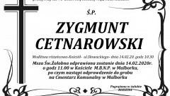 Zmarł Zygmunt Cetnarowski. Żył 73 lata.