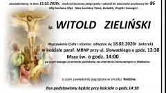 Zmarł Witold Zieliński. Żył 86 lat.