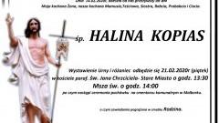 Zmarła Halina Kopias. Żyła 84 lata.