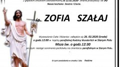 Zmarła Zofia Szałaj. Żyła 90 lat.