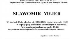 Zmarł Sławomir Mejer. Żył 54 lata.