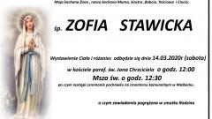 Zmarła Zofia Stawicka. Żyła 70 lat.