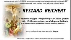 Zmarł Ryszard Reichert. Żył 82 lata.