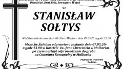 Zmarł Stanisław Sołtys. Żył 72 lata.