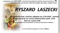 Zmarł Ryszard Laszecki. Żył 70 lat.