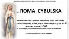 Zmarła Roma Cybulska. Żyła 59 lat.