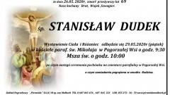 Zmarł Stanisław Dudek. Żył 69 lat.