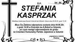 Zmarła Stefania Kasprzak. Żyła 94 lata.