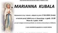 Zmarła Marianna Kubala. Żyła 88 lat.