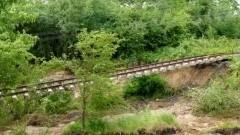 Na linii Malbork - Kwidzyn w miejscowości Gardeja woda podmyła tory kolejowe