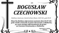 Zmarł Bogusław Czechowski. Żył 86 lat.