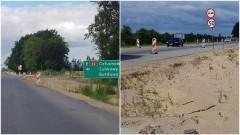 Czarlin- Knybawa. Ani żywej duszy na przebudowie drogi. Spór GDDKiA z wykonawcą robót.